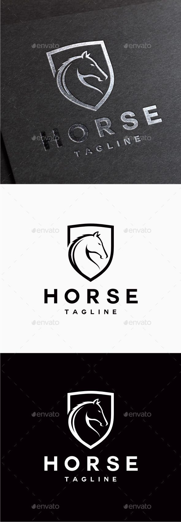 Horse Logo — Photoshop PSD #secure #strategy • Available here → https://graphicriver.net/item/horse-logo/9850865?ref=pxcr