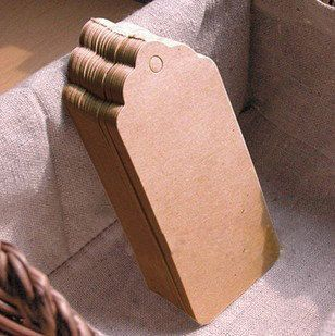 10 Etichette di carta Kraft 4x7 con spago - 10pcs 4x7 brown Kraft gift tags with twine