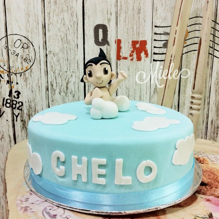 Astro boy cake!  Im happy how he turned out :)