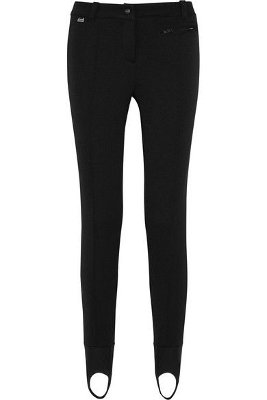 Black stretch-scuba jersey Snap and concealed zip fastening at front 73% polyamide, 24% viscose, 3% elastane Dry clean