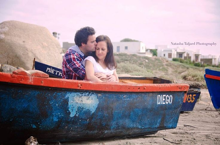 Paternoster, beach, boats, couple shoot.