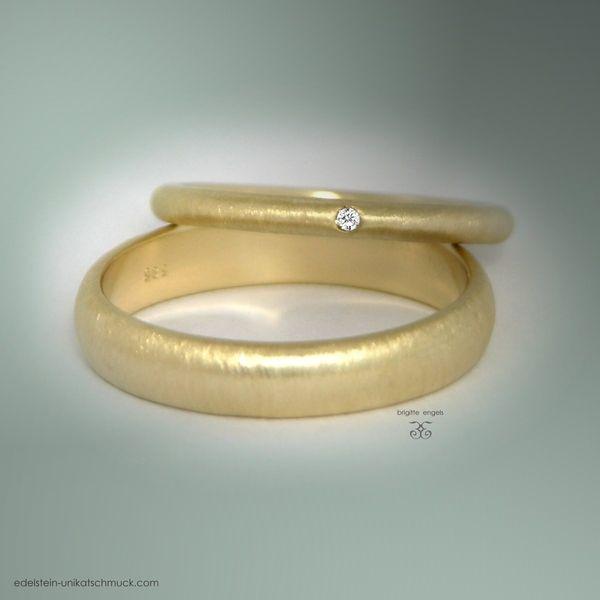 Partner- & Eheringe - Goldringe - Brillantring - Trauringe - ein Designerstück von Brigitte-Engels bei DaWanda