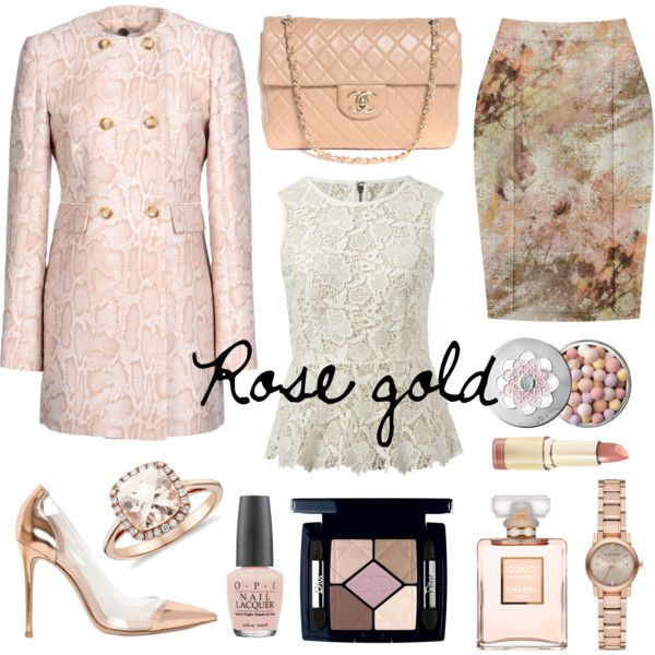 """rose gold"" by lelouka on Polyvore"