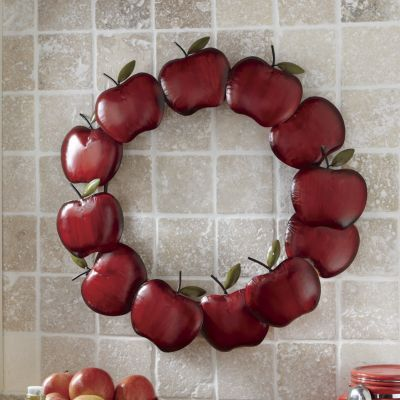 Our Metal Apple Wreath Is A Perfect Pick For Adding Interest To A Boring  Wall Space.
