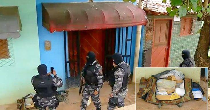 PM faz buscas por espingardas e fuzil AK-47 de facção em favela de Natal