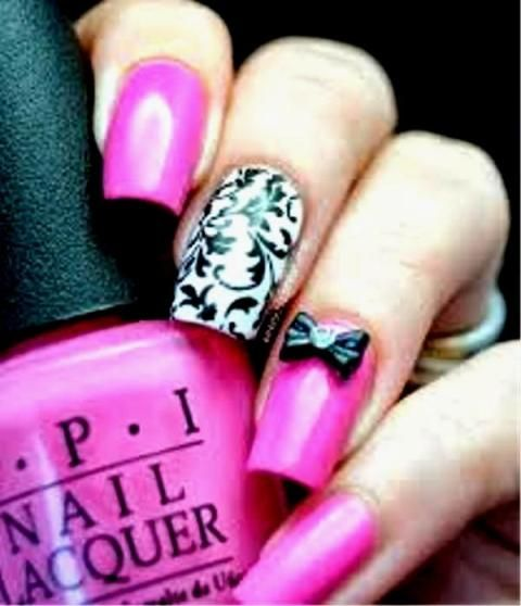 girly nail design