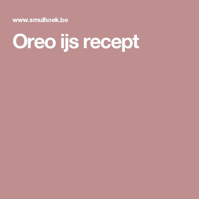Oreo ijs recept