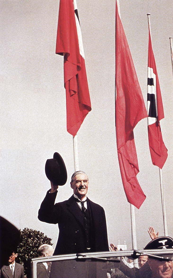 British Prime Minister Neville Chamberlain in Munich - 1938  Hugo Jaeger / LIFE