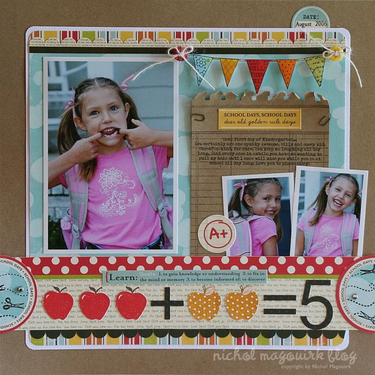 nichol magouirk back to school scrapbook layouts - Google Search