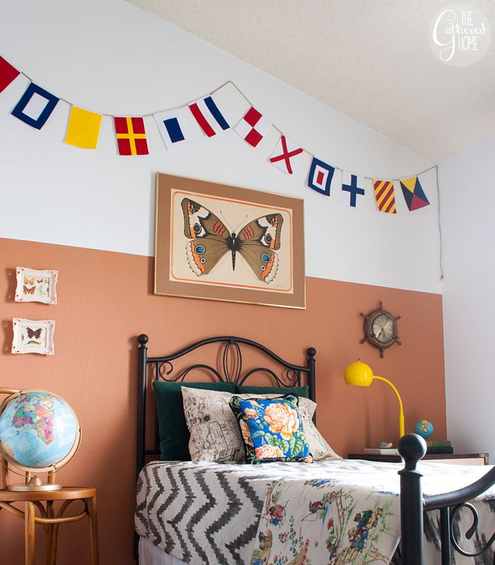 DIY Nautical Flag Banner | Tutorial + FREE Printable Templates!
