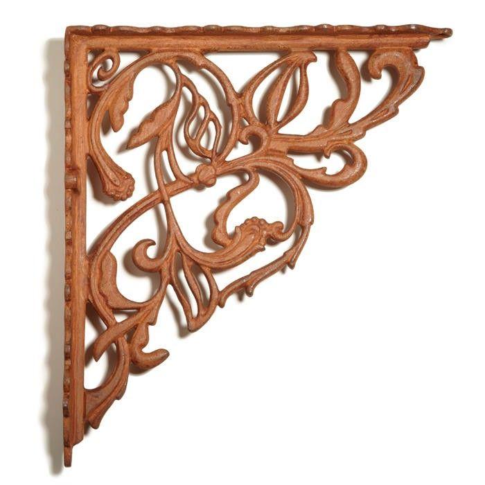 honeysuckle cast iron shelf bracket