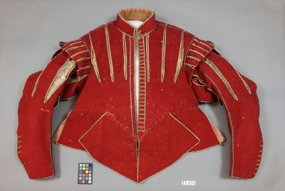 Röd tröja /red doublet, 1620s, owned by King Gustavus II Adolphus of Sweden | Livrustkammaren, Stockholm