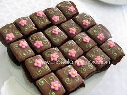 brownies decorados - Buscar con Google