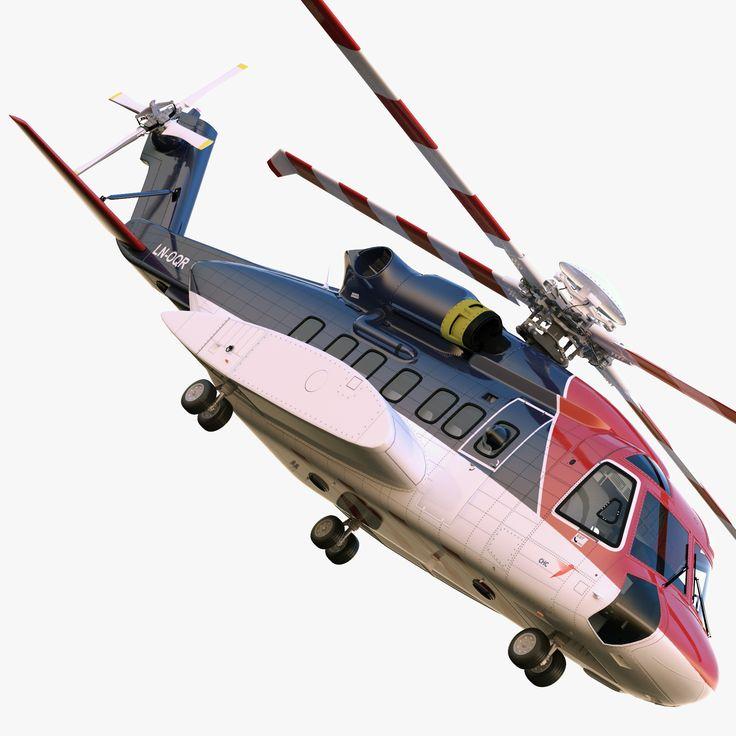 C4d Sikorsky S 92 - 3D Model