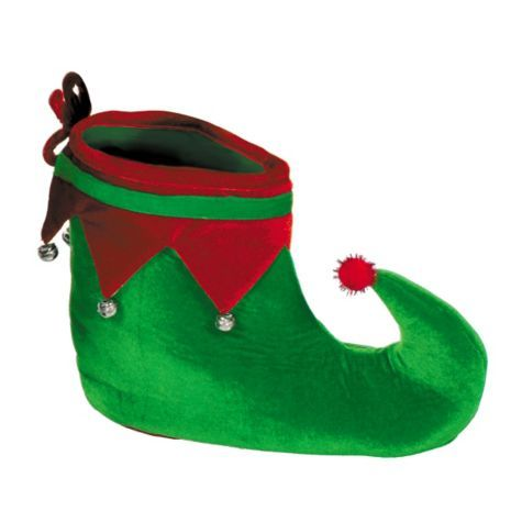 Kids Green Elf Hat And Shoes