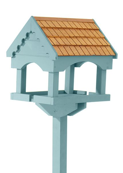 Self assembly painted bird table