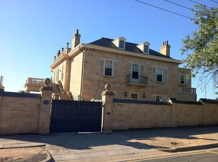 Huge old properties in North Adelaide, South Australia.