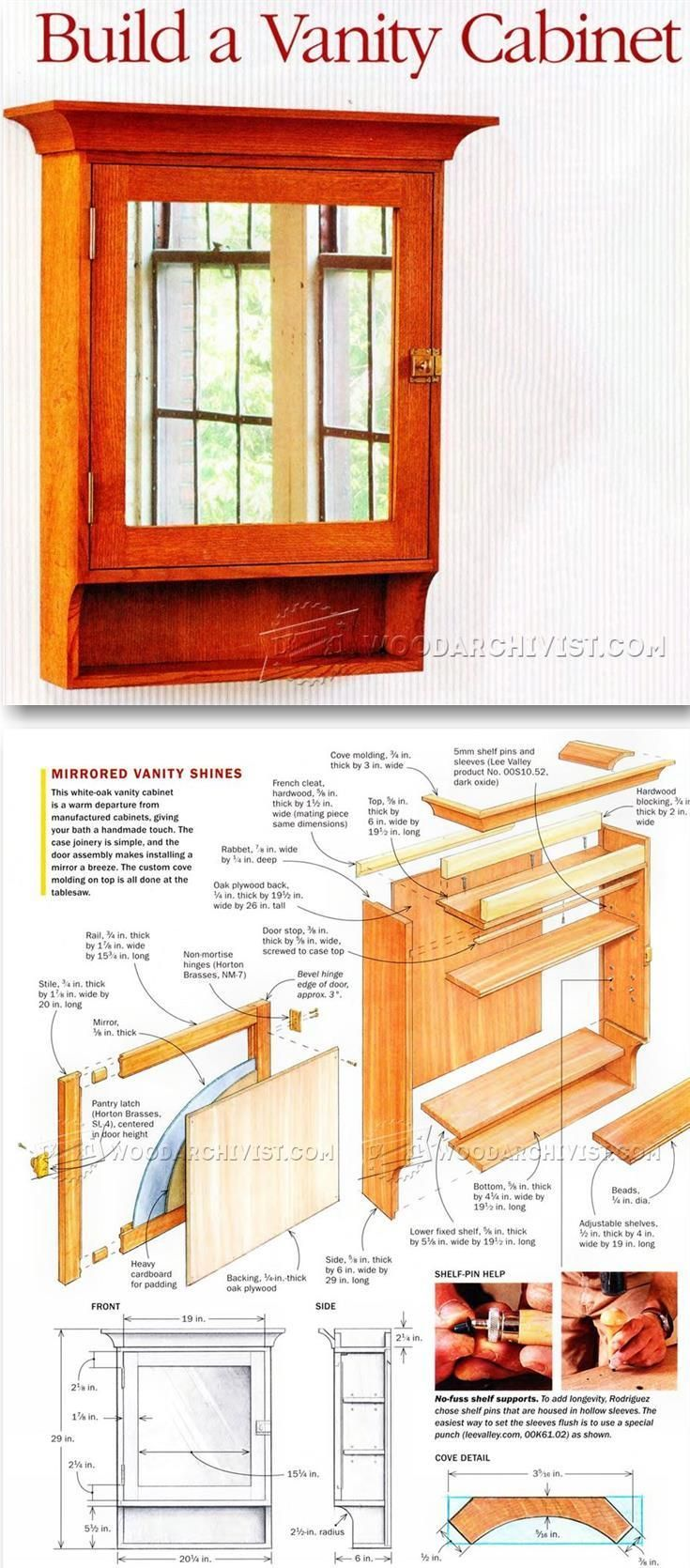 Vanity Cabinet Plans - Furniture Plans and Projects | WoodArchivist.com