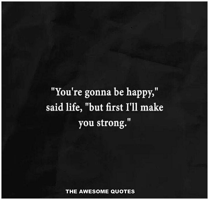 Then I'm going to the strongest woman on earth...at least emotionally.