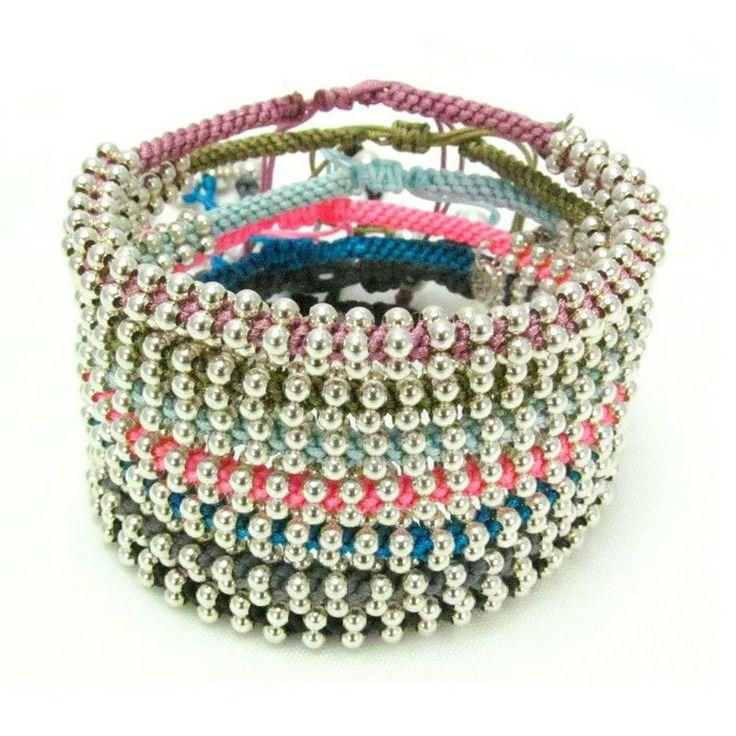 Silk Barong Barong Silk bracelet #uniquejewelry #hobochic #beadedbracelet #silver&gold #lucky