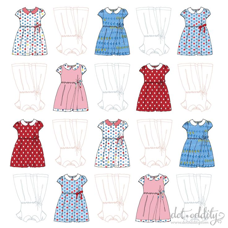 Little dresses by Maria Larsson