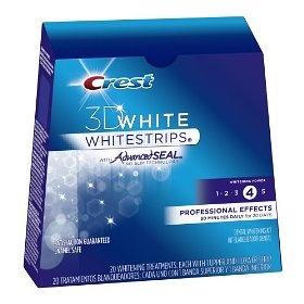 Crest 3D White Whitestrips With Advanced Seal Professional Effects Enamel Safe Dental Whitening Kit, (teeth whitening, crest white strips, whitestrips, crest whitestrips, teeth whitener, whitening, crest, oral hygiene, teeth sensitivity, white strips)