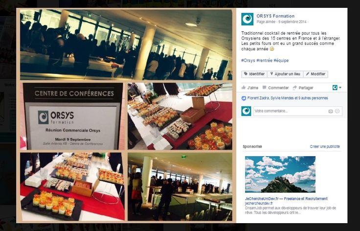 Cohésion d'équipe – Evénements internes - Célébrations / Cocktail de rentrée 2014 Découvrez nos offres d'emploi : http://www.orsys.fr/?mode=recrutement