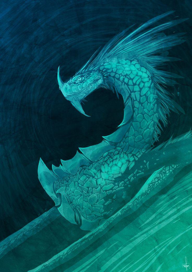 Dragon Abstract by *SarahJaneArt on deviantART