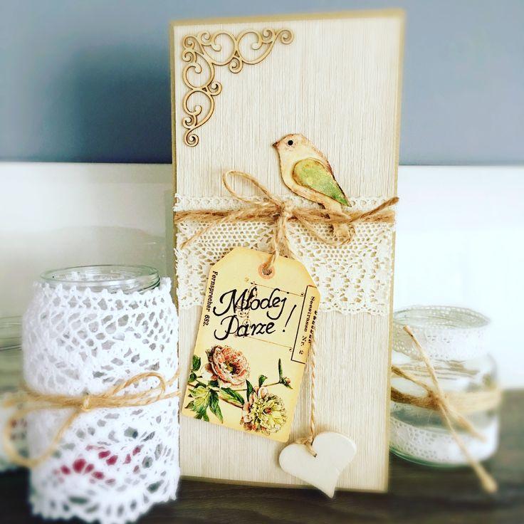 Kartka ślubna kartka retro retro card wedding card retro