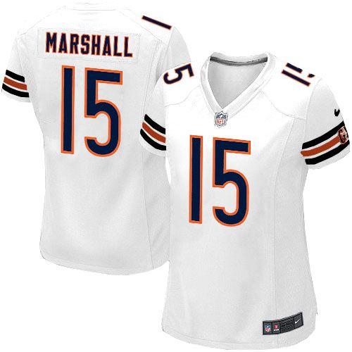nfl womens elite nike nfl chicago bears 15 brandon marshall white jersey 109.99