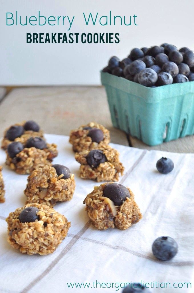 Blueberry Walnut Breakfast Cookies, no oil, no flour, #realfood - The Organic Dietitian