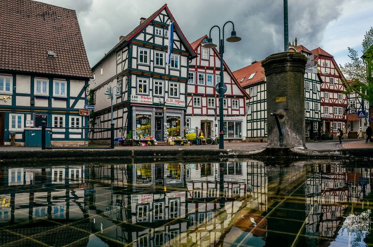 Fachwerkhäuser in Korbach, Hessen, Nordhessen Deutschland, Germany
