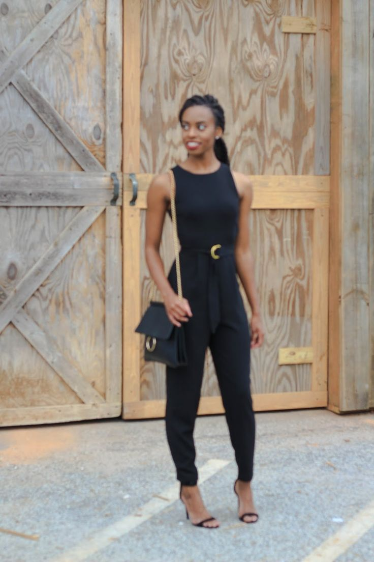 Deanna Luvs You | Wearing jumpsuit from H&M, Forever 21 handbag, Windsor Store shoes in Atlanta, GA