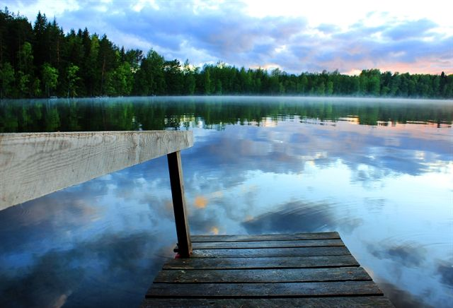 Tranquil lake in the middle of nowhere - Finland at its best.