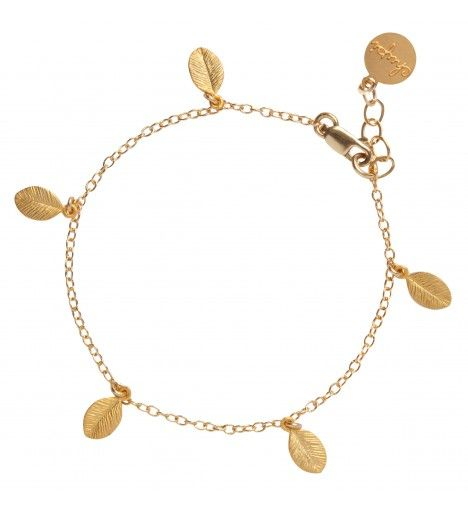 Leaves In The Forest Bracelet in 18k Gold