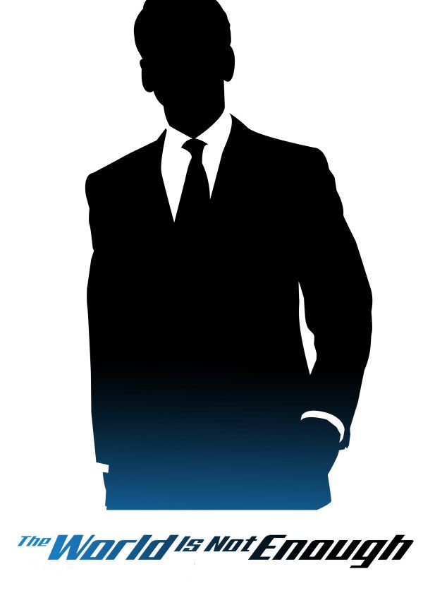 James Bond Silhouettes The World Is Not Enough Displate Artwork
