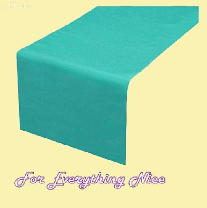 Turquoise Polyester Wedding Table Runners Decorations x 5 For Hire by J7339 - $30.00