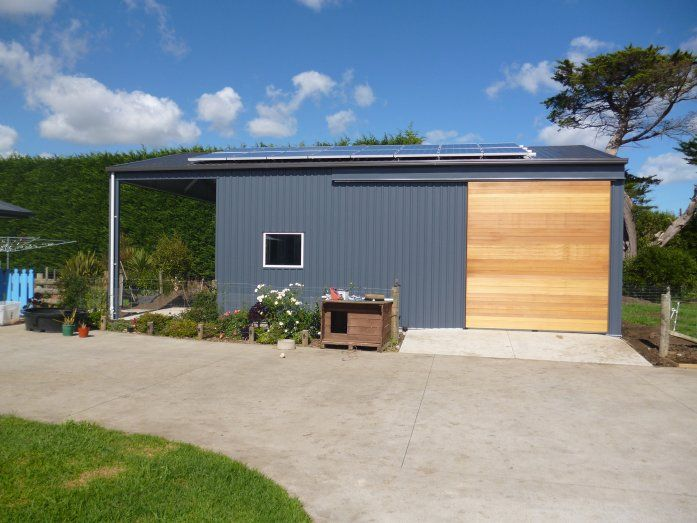 Total Span Sliding Door Carport Garage Building