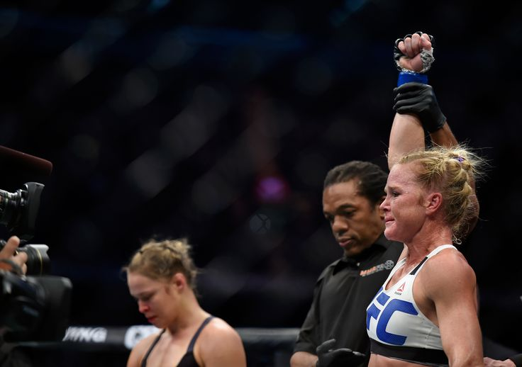 The UFC has released a teaser trailer on YouTube that shows new footage of the immediate aftermath of Holly Holm's historic win at UFC 193.  - Love the kiss at the end.