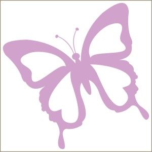 Butterfly Painted Lady Decal Vinyl Stencil Butterfly