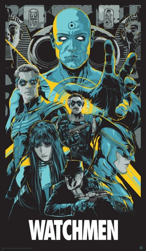 """Affiche originale Mondo """"Watchmen"""" (03/15/13) par Ken Taylor, signée & numérotée Taille 21""""×36"""" Regular edition 400, Variant edition 205 exemplaire au monde. @asgalerie #asgalerie #mondo #Watchmen #KenTaylor"""