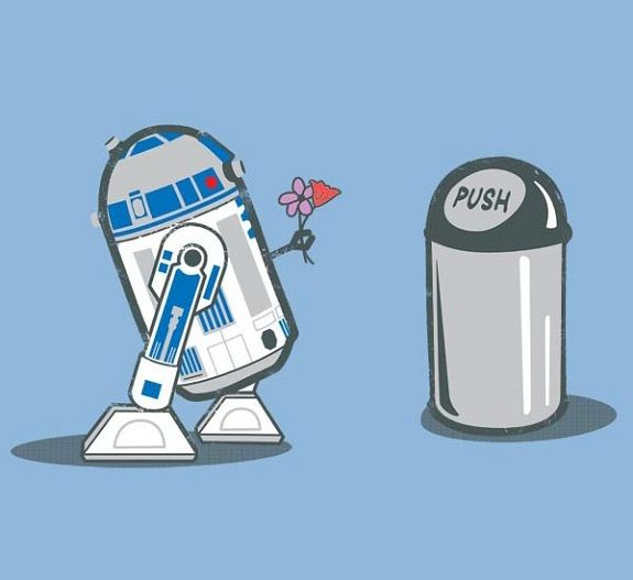 Now that Disney owns Star Wars... The garbage can needs to be one of the special ones :) if you don't know what I mean, we are no longer friends.
