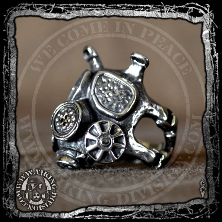 Gas Mask Ring - High quality made of stainless steel, with exceptional detail, a solid piece made to last. It is polished and smooth for a comfortable feel and fit. Available from our webstore.