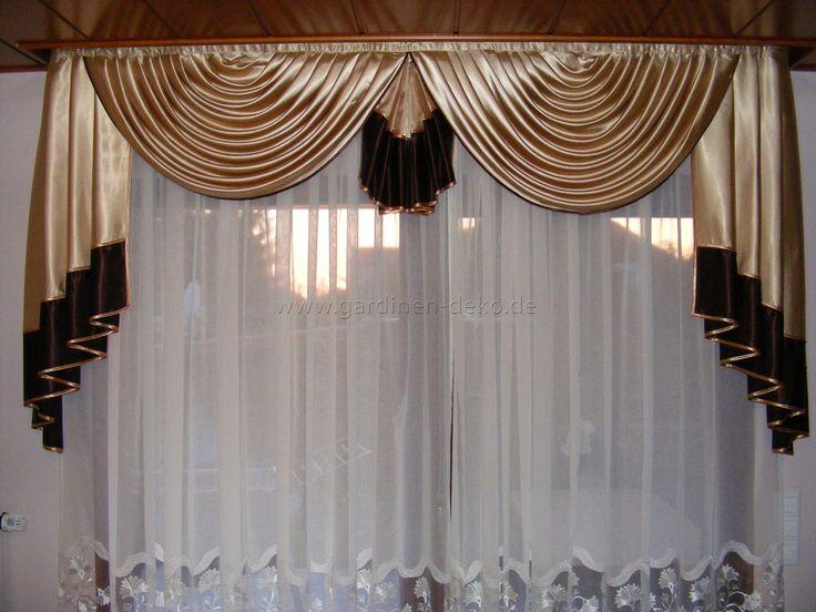 Heller Vorhang in saftigem Grün und anthrazit -    www - gardinen modern wohnzimmer braun