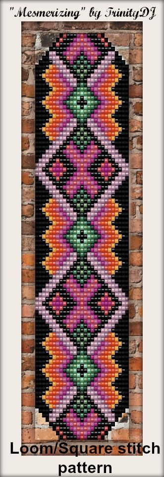 "New Loom/Square stitch bracelet pattern - ""Mesmerizing"". Please email if you are interested in the pattern"