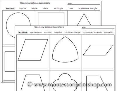39 Best Montessori Geometry Materials Images On Pinterest