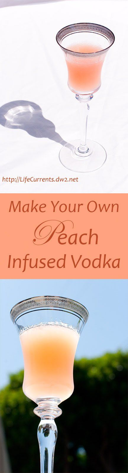 Happy Hour Food - Peach Infused Vodka