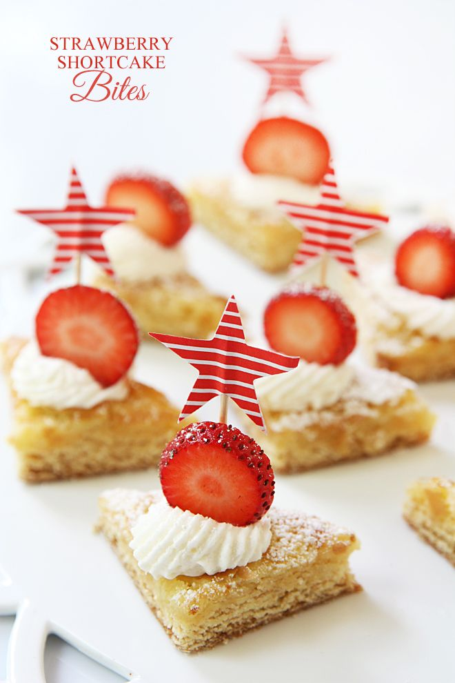 Mini Strawberry Shortcake Bites!