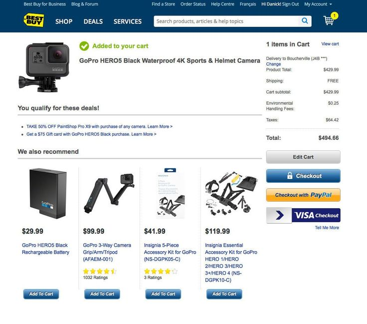 [Best Buy][Best Buy] GoPro HERO5 Black Waterproof 4K. $429.99 (In cart discount) And $10 best buy coupon http://www.lavahotdeals.com/ca/cheap/buybest-buy-gopro-hero5-black-waterproof-4k-429/154719?utm_source=pinterest&utm_medium=rss&utm_campaign=at_lavahotdeals