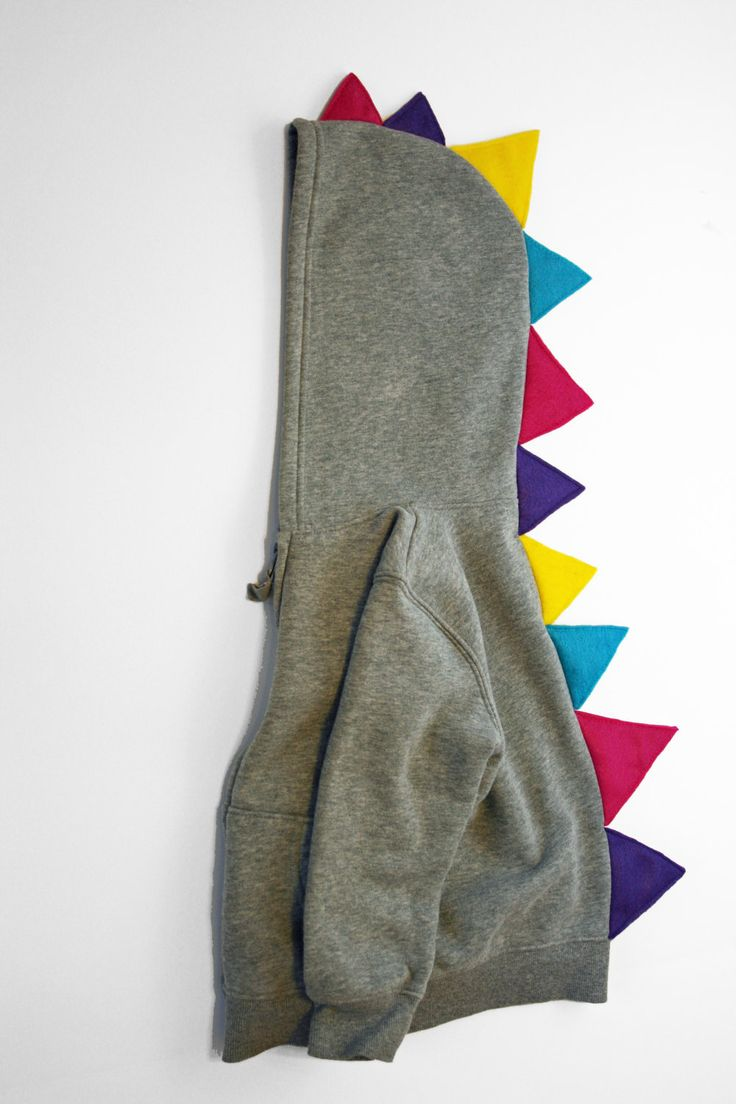 I could do that...Dinosaur Hoodie with Multi-Color spikes : hooded sweatshirt with many color dino spikes
